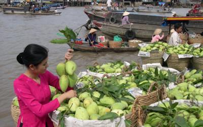 Cai Be Market Mekong delta
