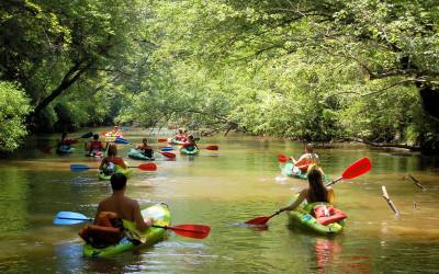 Kayaking at Nam Khan River